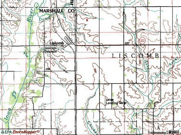 Zip code 50148 topographic map