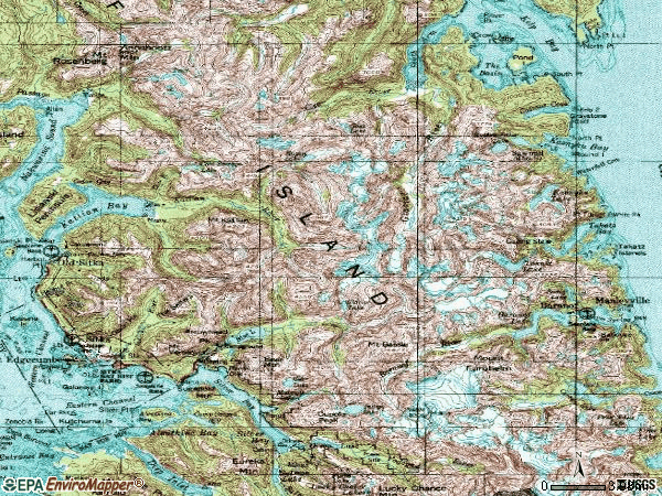 Zip code 99835 topographic map