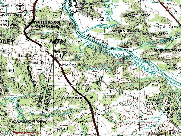 Zip code 35175 topographic map