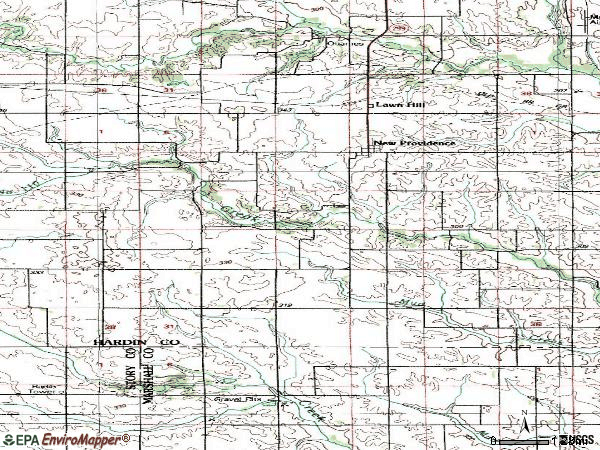 Zip code 50206 topographic map