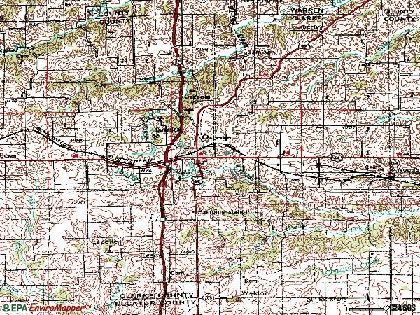 Zip code 50213 topographic map