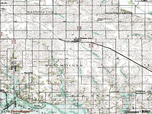 Zip code 50228 topographic map