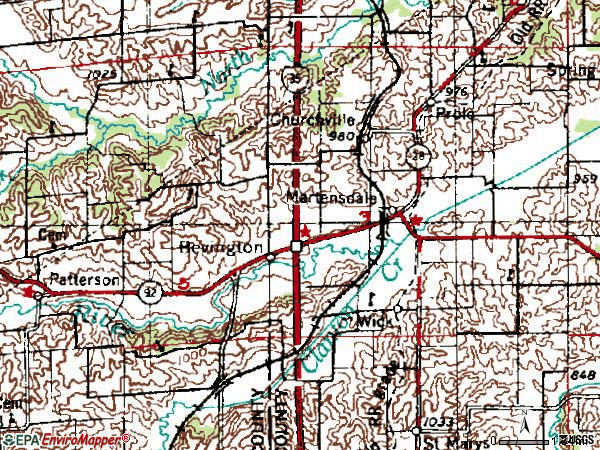Zip code 50229 topographic map