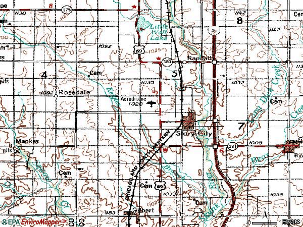 Zip code 50248 topographic map