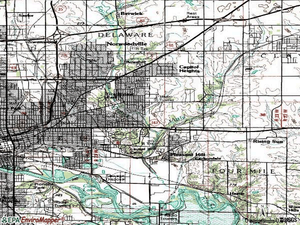 Zip code 50317 topographic map