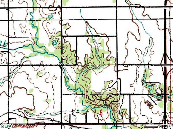 Zip code 50323 topographic map