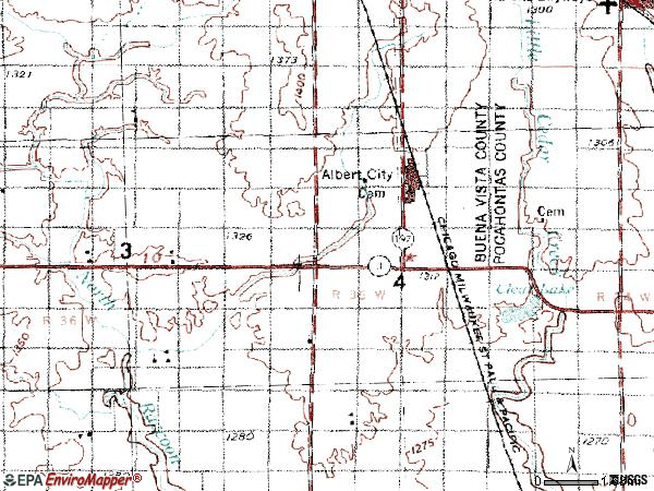 Zip code 50510 topographic map