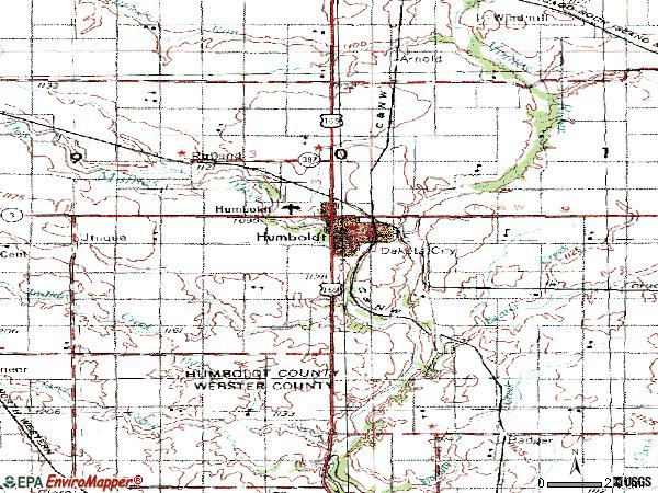 Zip code 50548 topographic map