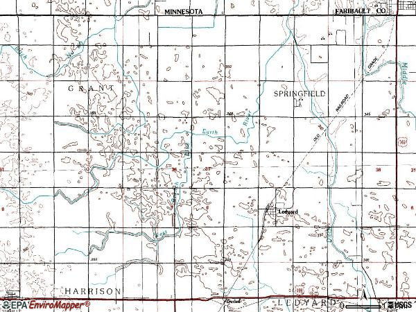 Zip code 50556 topographic map