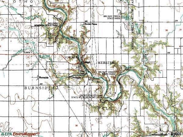 Zip code 50557 topographic map