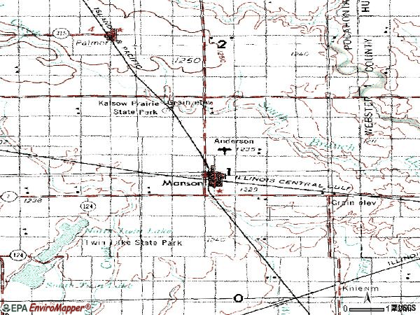 Zip code 50563 topographic map