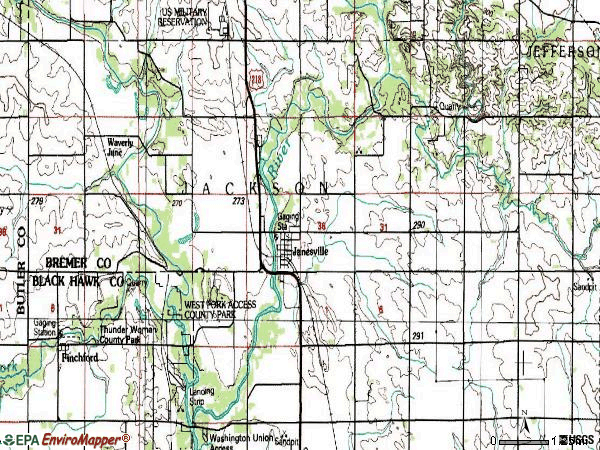 Zip code 50647 topographic map