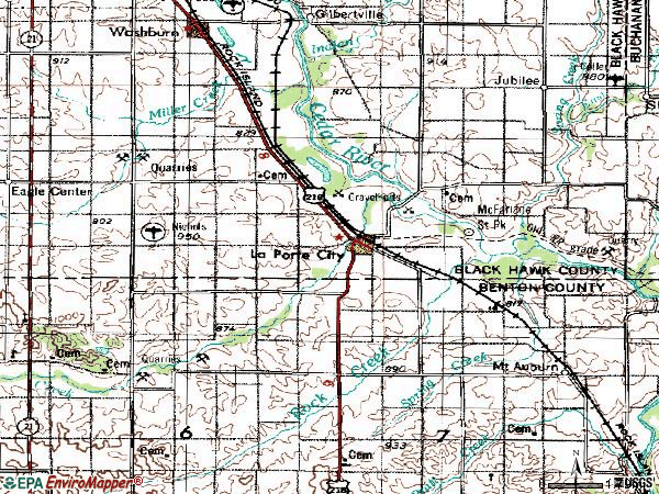 Zip code 50651 topographic map
