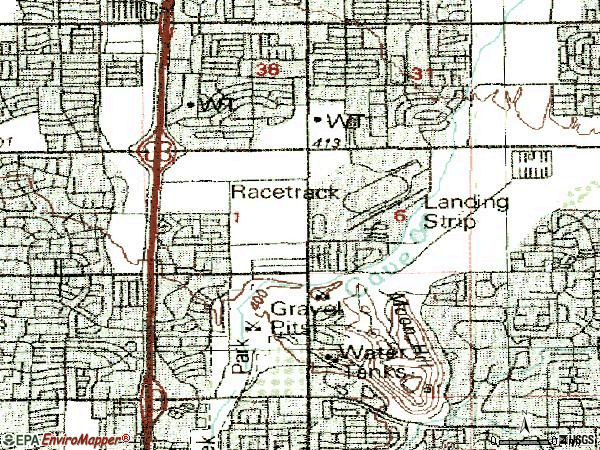 Zip code 85023 topographic map