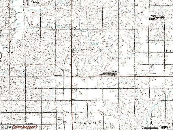 Zip code 51239 topographic map