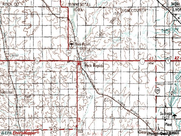 Zip code 51246 topographic map