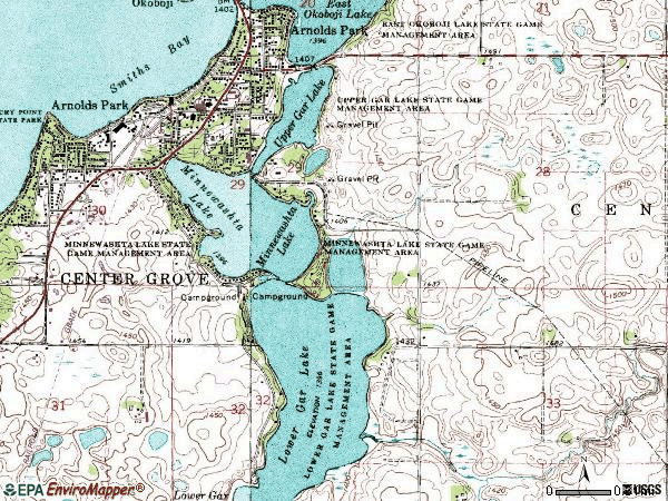 Zip code 51331 topographic map
