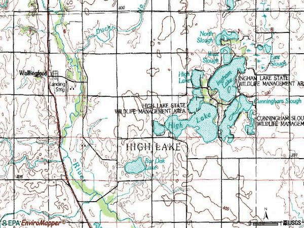 Zip code 51365 topographic map