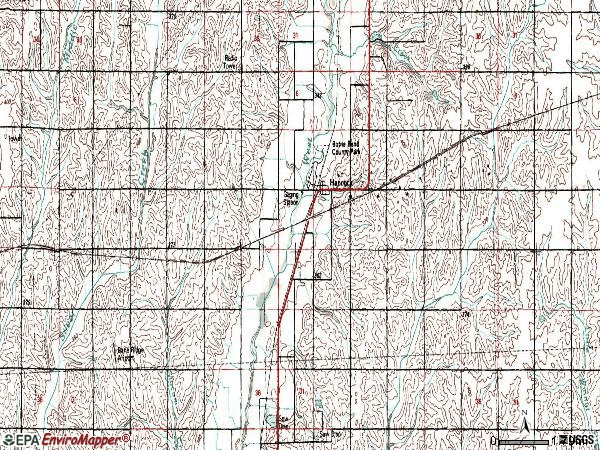 Zip code 51536 topographic map