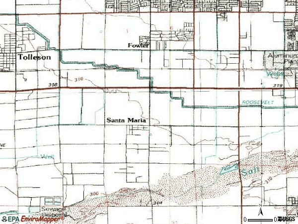 Zip code 85043 topographic map