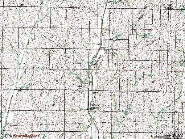 Zip code 51636 topographic map