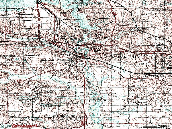 Zip code 52240 topographic map