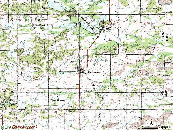 Zip code 66075 topographic map
