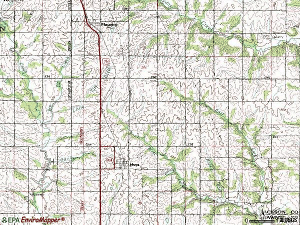 Zip code 66440 topographic map