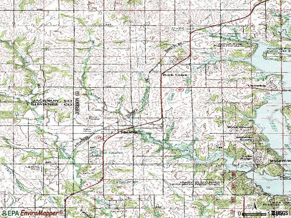 Zip code 66512 topographic map