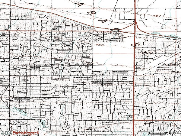Zip code 85254 topographic map