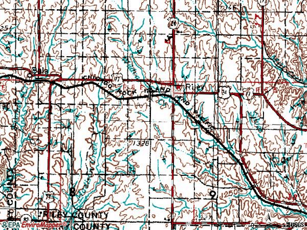 Zip code 66531 topographic map