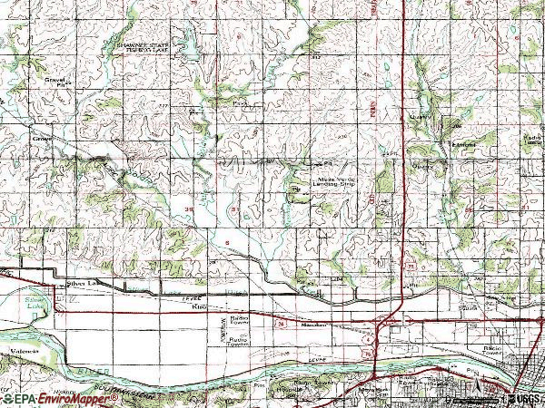 Zip code 66618 topographic map